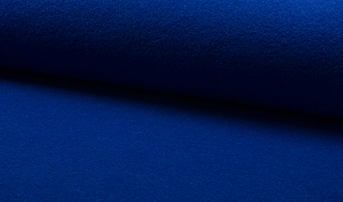 FABRICS-CITY ROYALBLAU EDEL WALKLODEN STOFF 620G 100% SCHURWOLLE STOFFE, 4545(Royalblau)