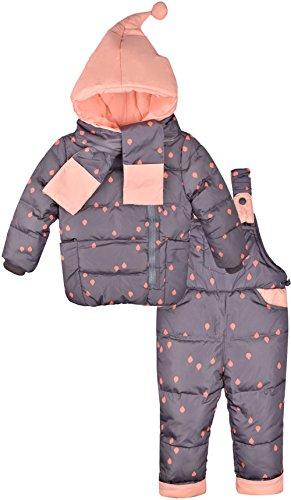 ZOEREA Bébé Fille Combinaisons de Ski Enfants Doudoune Hiver Chauds Vêtements Ensembles Habit de Neige Manteau Veste + Pantalons de Neige