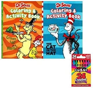 Dr. Seuss - Coloring & Activity Books with 24 Crayons Set