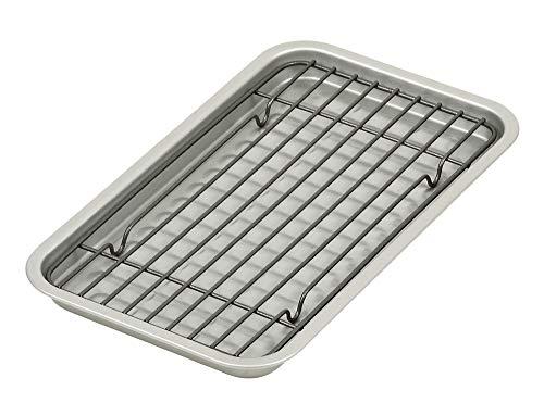 パール金属 ベイクウェア シルバー 幅24.5cm ふっ素加工オーブントースター用プレート・アミセット HB-4511