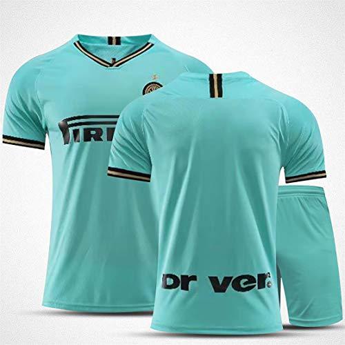 Fußball Jersey Mailand, 2020/21 Home Away Hemd, Spieler Version 9# Lukaku 14# NaingGolan 37# Škriniar Kurzarm und Shorts Anzug, Fußball T-Shirt für Outdoor-Sporta A0-XXL