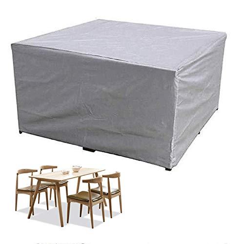 YGWQ Cubierta para muebles de jardín, con ventilación de aire, impermeable, resistente al viento, anti-UV, tela Oxford resistente, para la prevención del polvo de mesas y sillas al aire libre.