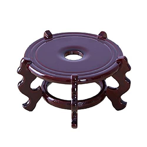 DONGTAISHANGCHENG Pedestal de Base de Madera para jarrones Soporte de exhibición de decoración casera Estable no giratoria (4 tamaños) (Size : Large)