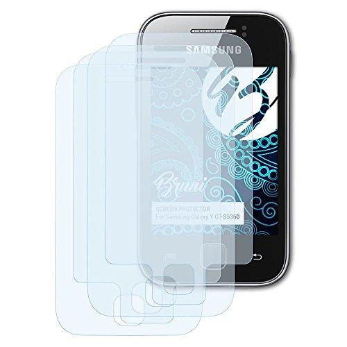 Bruni Schutzfolie kompatibel mit Samsung Galaxy Y GT-S5360 Folie, glasklare Displayschutzfolie (2er Set)