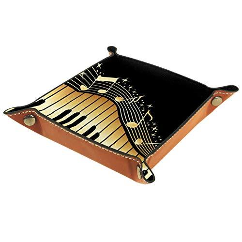 XiangHeFu Bandeja de Cuero Teclas del Piano Almacenamiento...