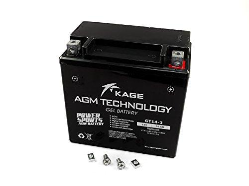 GEL-Batterie-KAGE YTX14L-BS 14AH für Buell Harley Davidson