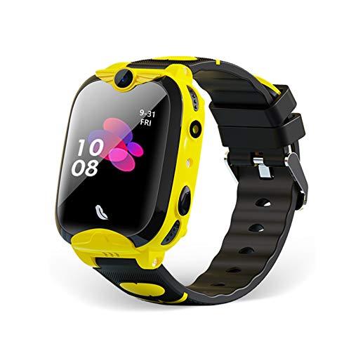 Lasamot Smartwatch per Bambini da 1,4' 4G con Chiamata bidirezionale Chat vocale Monitoraggio vocale remoto GPS Wi-Fi LBS Posizione SOS Aiuto di Emergenza Braccialetto Fitness IP67 Orologio Smart