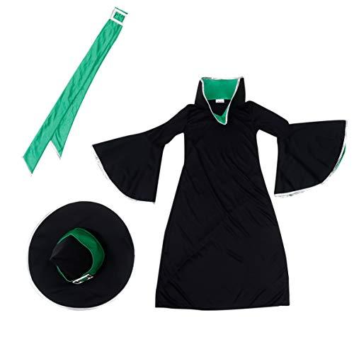 KESYOO 1 Juego de Vestido Largo de Bruja de Halloween Traje de Fiesta para Masquerade Cosplay-4-6 Aos