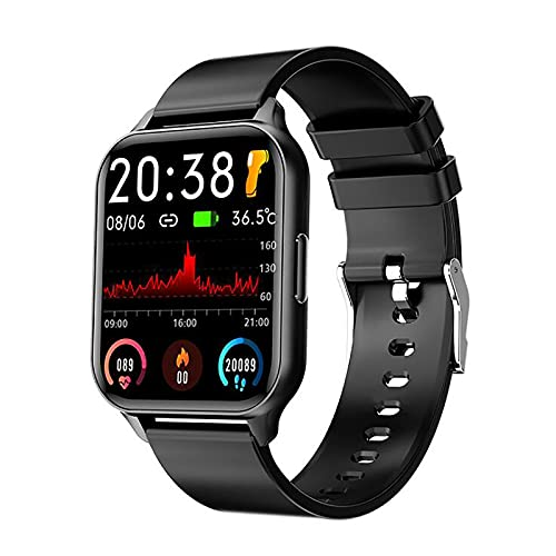 SZKP Smartwatch,1.69' Táctil Completa Reloj Inteligente Hombre Mujer con Monitor De Sueño,Pulsómetro,Cronómetro,Podómetro Impermeable IP67 Pulsera Actividad Inteligente para Android iOS
