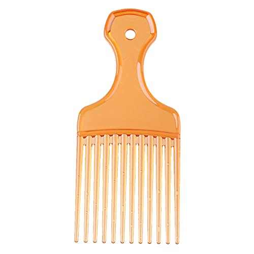 Peine de pelo rizado Pro peluquería Tenedor Peine Herramientas de peinado (naranja)