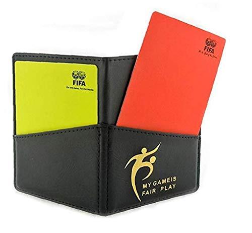 Schiedsrichter Bilanz Karten-Satz Direkt Fußball-Schiedsrichter Rote Karte Fußball Gelbe Karte Tasche