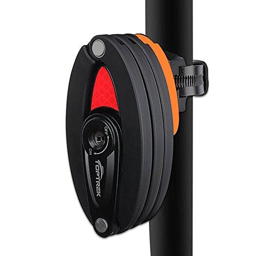 toptrek Faltschloss mit Halterung Fahrradschloss Schlüssel Lang 85cm 8 Gelenken Fahrradschloß Sicherheitsstufe Level 10 Fahrrad Faltschloß für Mountainbike/Rennrad/BMX/MTB (Schwarz)