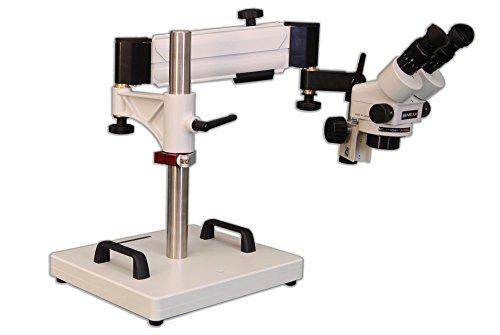 MEIJI TECHNO AMERICA Meiji EMZ-5+MA502+F+SAS-1 Binocular Zoom Stereo Body, 0.7X - 4.5X Zoom Range, Eyepiece, Focus Block, Heavy Duty Articulating Arm Stand