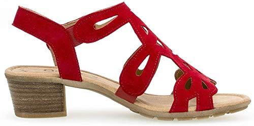 Gabor Damen Sandaletten 24.561.15, Frauen Sandaletten,Sommerschuhe,offene Absatzschuhe,hoher Absatz,Rubin,38.5 EU / 5.5 UK