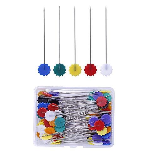 200 Patchwork Pins Flower Head Pins Nähen Stricknadeln, Nähen Quilten Zubehör DIY Craft Tools, Mehrfarbig, Nähnadeln für DIY, Nähen, Basteln, Schneider