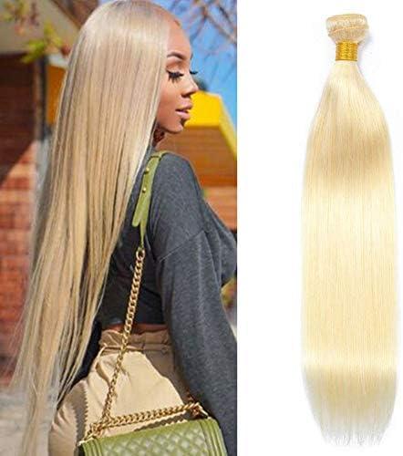 Aushow 613 Platinum Blonde Hair Straight Hair 1 Bundles Human Hair 20 Inch Honey Blonde Straight product image