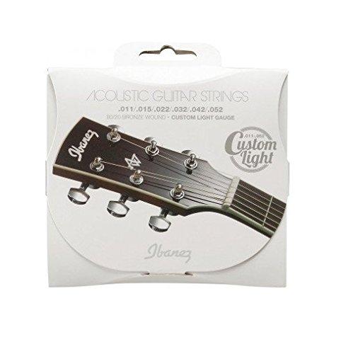 Ibanez snarenset akoestische gitaar Coated 80/20 brons 6-snaren - Custom Light 11-52