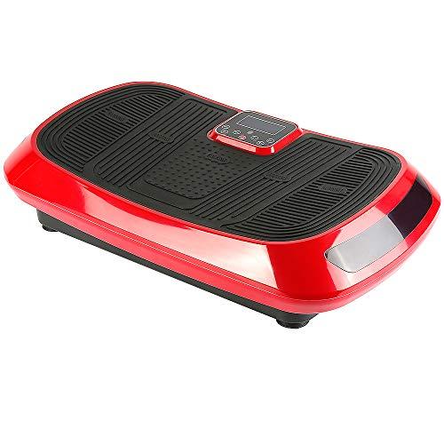 Pedana vibrante Vibro Massaggiante Oscillante,vibrante professionale oscillante per fitness con tecnologia di vibrazione 4D, 3 motori + Bluetooth + LCD + Telecomando, ideale per fitness e bodybuilding