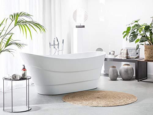 Wunderschöne, ovale, freistehende Badewanne in Weiß Buenavista
