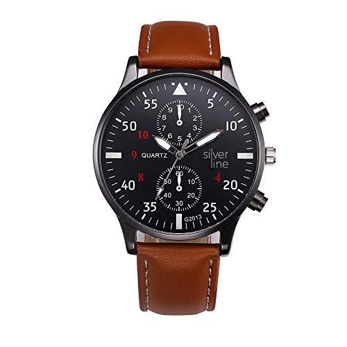 Waselia SchöNe Herren Armbanduhren Uhr Damenuhr Online Kaufen/Armbanduhr Damen Rosegold Leder/Schlichte Herrenuhr Lederarmband/Armbanduhr Aus Quarz-Armbanduhr Im Retro-Design-Lederarmband (Braun)