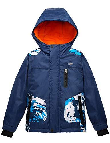 Wantdo Boy's Waterproof Skiing Jacket Thick Breathable Warm Winter Coat Navy 6/7