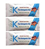 K The Ketogenic Bar - Chocolate Peanut Butter Keto Bars - High Fat, Low Carb. The Perfect Keto Protein Bars as a Keto Snack Food for Keto Diets. Paleo Friendly. 12 Pack K Bars