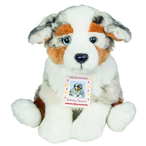 Teddy Hermann 919353 Australischer Schäferhund Welpe sitzend Plüsch, 22 cm