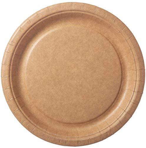 Duni 192375 – Platos de papel bio marrón, revestidos, diámetro aprox. 22...