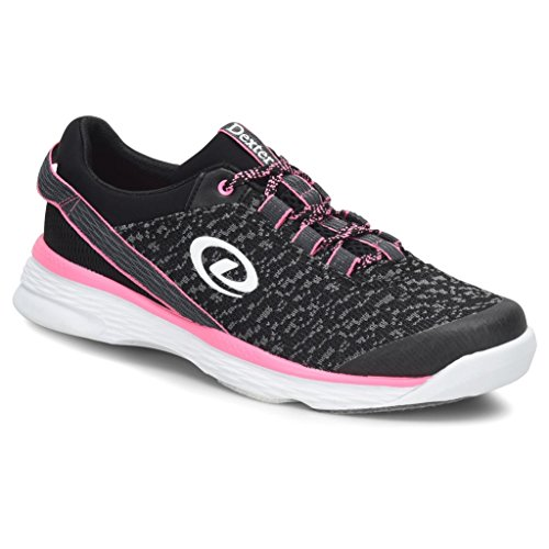 Dexter Womens Jenna 2 Bowling Shoes- 7 1/2, Black/Grey/Pink, 7.5