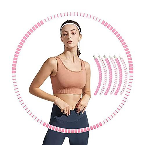 Sunshine smile Hula Hoop,Fitness Hula Hoop para pérdida de Peso y Masaje, Aro de Fitness, Gimnasia, círculo de Adelgazamiento, círculo de Fitness para pérdida de Peso(6-Gris Polvo)