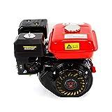 Motor de gasolina de 7,5 CV/4 tiempos, motor de kart, refrigerado por aire, alimentación por gravedad, motor industrial, 5,1 kW, para bombas y barcos (rojo)