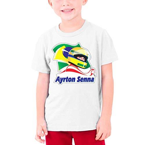 Ayrton Senna T-Shirt Kids Short Sleeve Tee Shirts