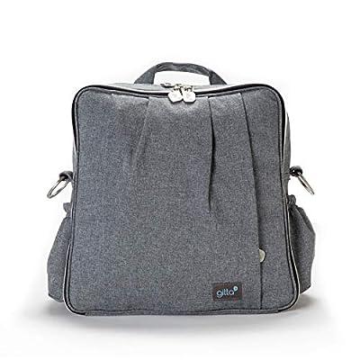 Gitta Beauty Waterproof Carry All Diaper Backpack 5 piece/Changing Mat Black