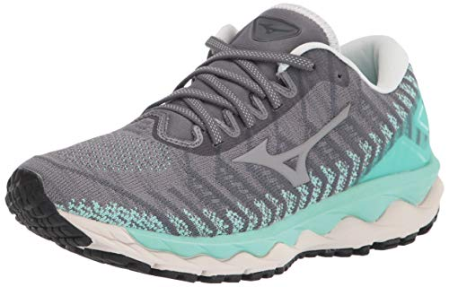 Mizuno Women's Wave Sky 4 WAVEKNIT Running Shoe, Castlerock, 9 B US