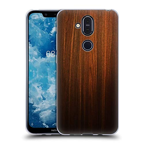 Head Case Designs Ufficiale Nicklas Gustafsson Legno Textures Cover in Morbido Gel Compatibile con Nokia 8.1 / X7