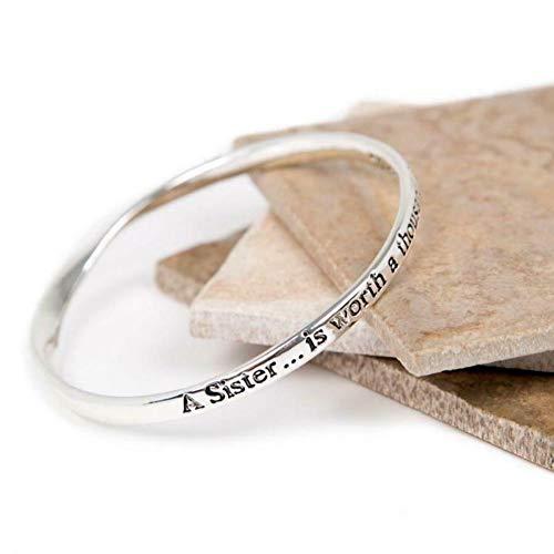 Love the links silber A Sister Is Worth 1000Friends Zitat Nachricht Armreif Armband