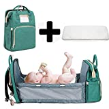 Multifunctional Baby Travel Cot,Portable Diaper Changing Station Mummy Bag Backpack,Foldable Baby Cot Bed