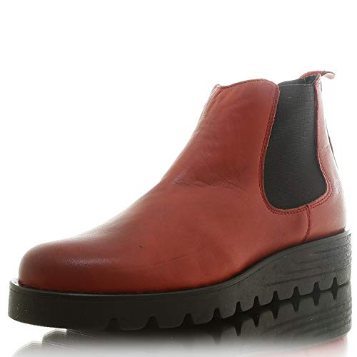 SHOOT SHW2189002 Damen Chelsea Boots Ankle Boots Stiefelette red Gr. 42