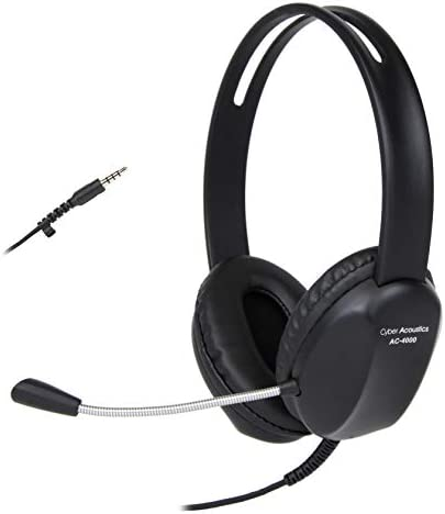 Cyber Acoustics 3 5mm Stereo Headset with Headphones and Noise Cancelling Microphone 20 Pack product image