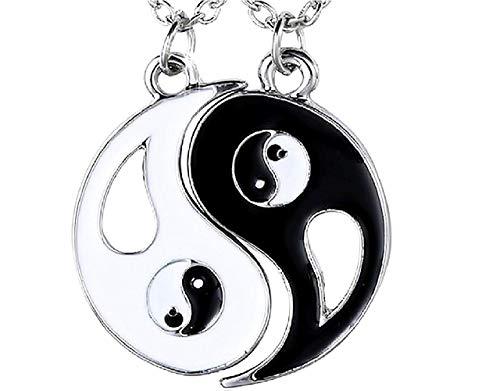 Dubbele yin en yang hanger ketting best friends