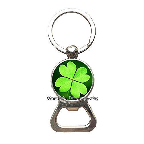 Clover Bottle openers Keychain, Lucky Clover,Good Luck Jewelry, Four Leaf Clover, Lucky Charm, Good Luck Jewelry,PU154