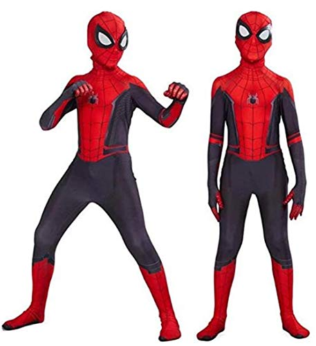 Cosplay Costume Kids Superhero Suits Halloween 3D Style (Kids-XS(Height 37-42Inch), Red and Black)