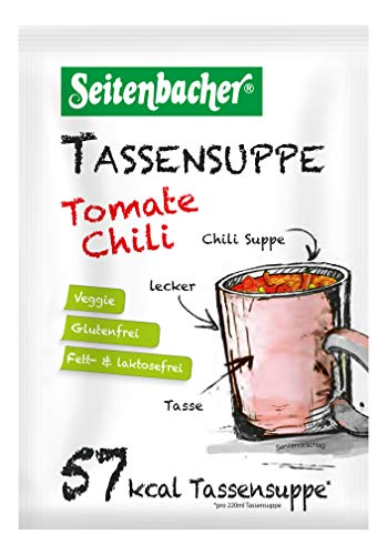 Seitenbacher Gesunde Tassensuppe Tomate Chili/Vegan, 12er Pack (12 x 20 g)