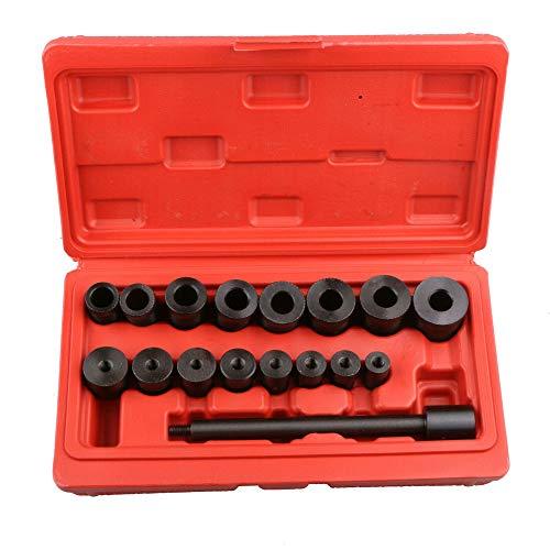 MOSTPLUS 17-teilig Kupplungszentrierwerkzeug Zentrierset Kupplungsjustierwerkzeug Zentrierdorn Justierwerkzeug mit Klemmknopf