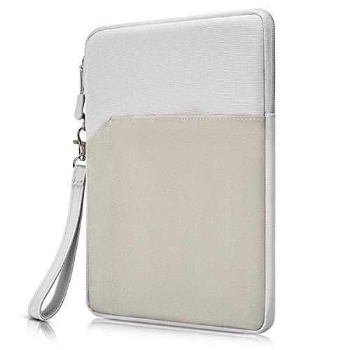 Funda para tablet de 9,7 pulgadas de 10,5', a prueba de golpes, para iPad Pro de 10,5', iPad 7 de 10,1', Samsung Galaxy Tab 10.1, Fire HD 10', Lenovo Tab M10 10.1, gris claro