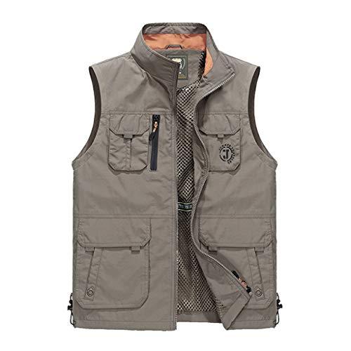 XXT zomer-mesh-mantel voor outdoorkleding met meerdere zakken.