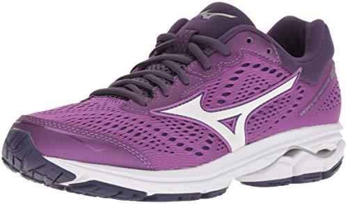 Mizuno Women's Wave Rider 22 Running Shoe, Bright Violet/Purple Plumeria, 3.5 UK