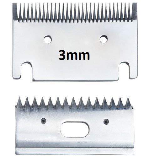 Cuchillas de Recambio para cortadora de Caballo, tamaño Mediano 1 o 3 mm de Corte. Fit Heiniger, Liveryman, Aesculap, Masterclip, Folk, Oster (B - 3 mm Grosor)