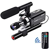 OsxoBear Video Camera Night Vision Camcorder up to 100Meters Viewing Distance,Video Camcorder with Monocular Telescope,External Powerful Infrared Spotlight,External Microphone,Remote Control,32GB Card