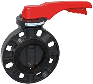 Hayward BYCS1050E1LGA Series BYCS PVC Body & Disc EPDM Liner Lever for Butterfly Valve, 5